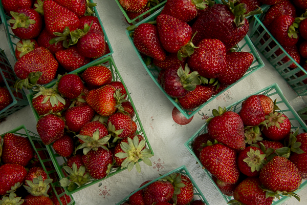 Strawberries on sale.  Robert Gumpert 2015