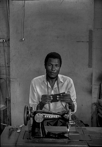 Street tailor. Port au Prince, Haiti, 1987
