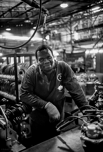 Autoworker. South Africa 1991