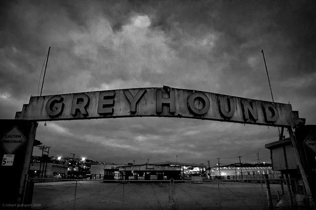 2009: San Francisco, CA.  The old and unused Greyhound barn/maintance yard.  Photo; Robert Gumpert