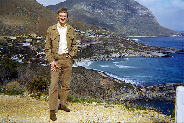 1970: Tom Bell, taken by his brother Ron, while they were in Cape Town, SA during their mission.