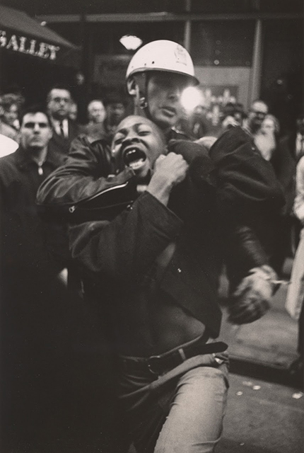 "Danny Lyon, ""Arrest of Taylor Washington, Atlanta,"" 1963. Gelatin silver print, Image: 24 x 16 cm (9 7/16 x 6 1/4 in.); sheet: 25.4 x 20.3 cm (12 11/16 x 8 in.). Collection of the artist, L64 © Danny Lyon, courtesy Edwynn Houk Gallery, New York"